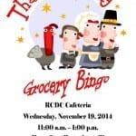 Thanksgiving Grocery Bingo