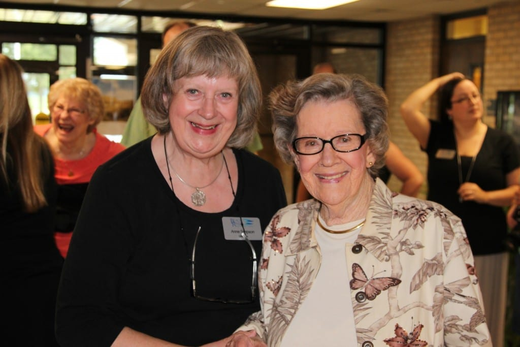 Anne Simpson, BRTC Library Director, and her mother Mrs. Simpson