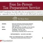 Free In-Person Tax Preparation Service
