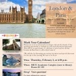 London and Paris 2018 Trip Meeting