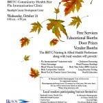 Community Health Fair and Flu Immunization Clinic