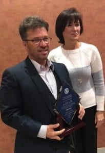 2018 10 12 -- Kelly Grooms -- Awarded the WW Scott Award from Poc Rotary