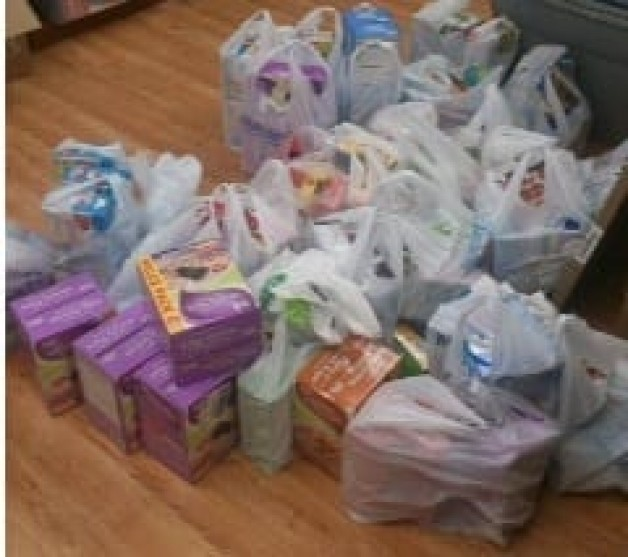 BRTC SGA, Faculty, and Staff Donate to Alma Spikes Backpack Program