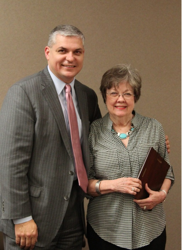 Sue Gibson Honored for BRTC Board of Trustees Service
