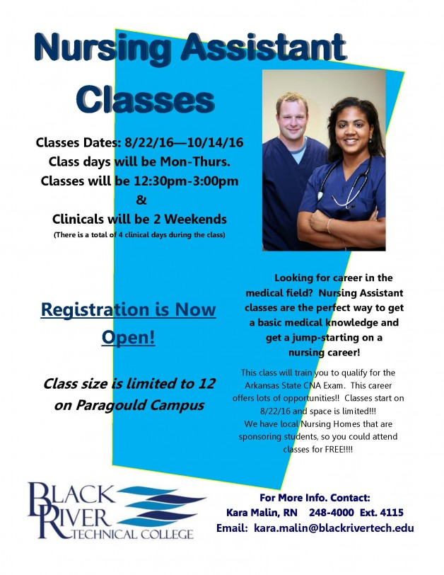 Cna Classes For Paragould Campus Black River Technical College