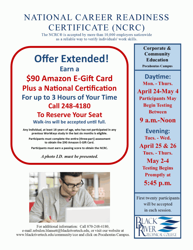 National Career Readiness Certificate Testing