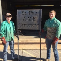 Welding Students Build Sign for Vandalized Cemetery