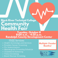 Annual Health Fair and Flu Shot Clinic, October 8 in RCDC
