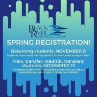 Spring 2020 Registration for Returning Students Begins 11/8