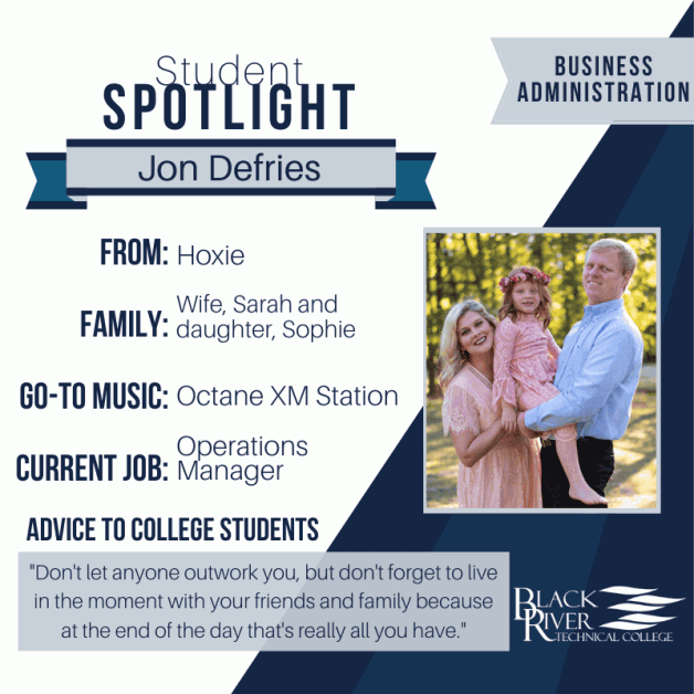 Student Spotlight:  Jon Defries