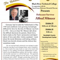 BRTC presents Holocaust Survivor Alfred Münzer