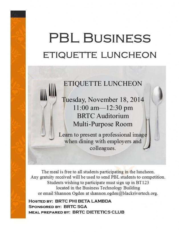 Business Etiquette Luncheon