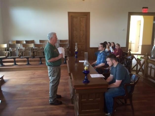 Criminal Justice Club Visits Powhatan Historic State Park