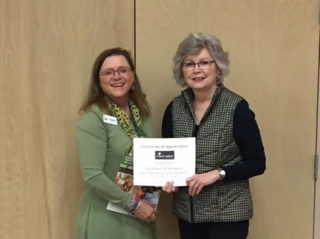 French Named Volunteer of the Month