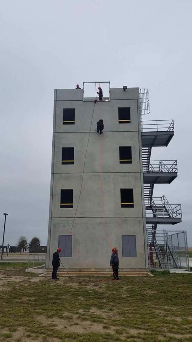 BRTC Hosts Rapelling Class for Specialized Fire Training Rescue