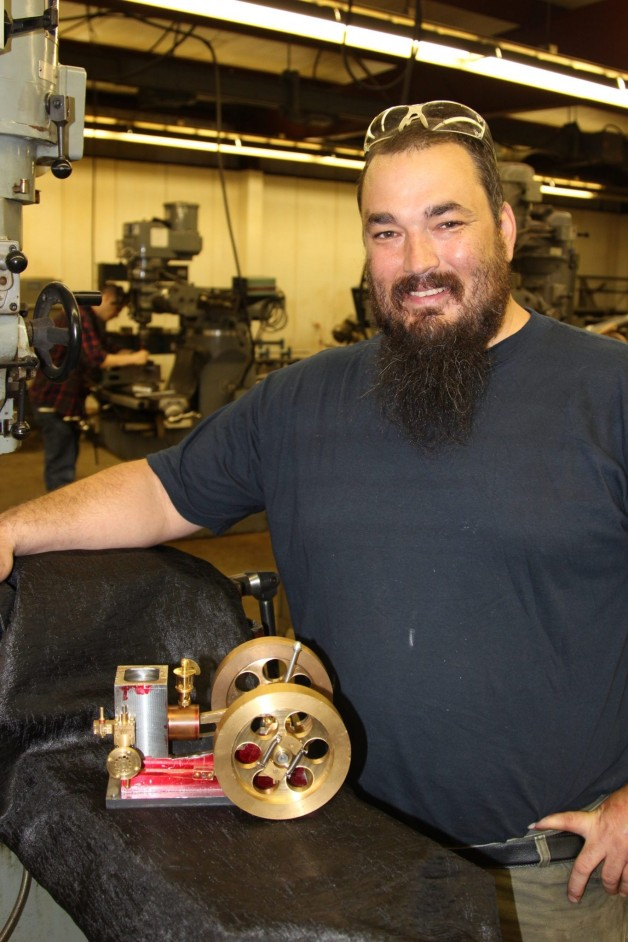 Student Builds Small Engine in Class
