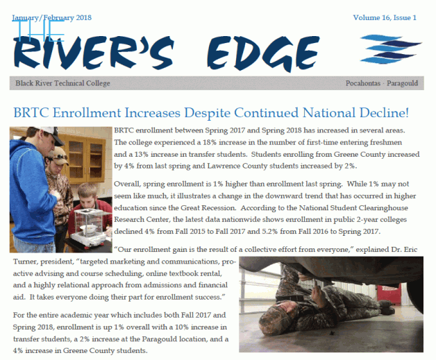 The River's Edge, Volume 16, Issue 1