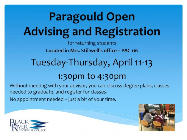 Paragould Open Advising and Registration