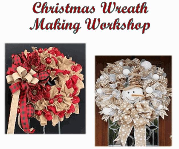 Burlap Christmas Wreath Making Workshop