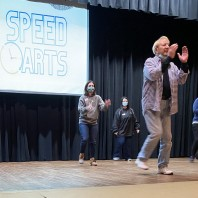 BRTC's Thom Fielder Teaches Leadership Paragould Class XXIV a Line Dance
