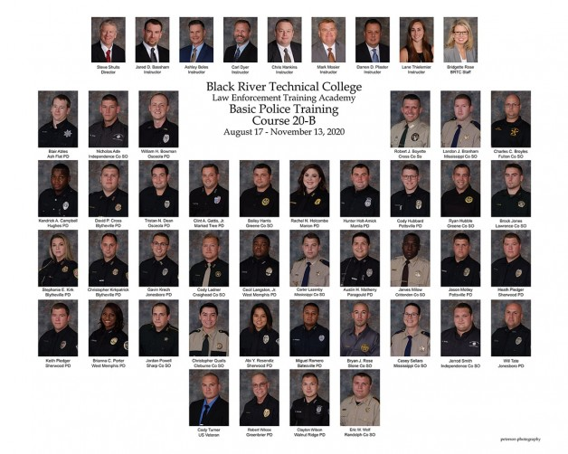 Cadets Honored at the BRTC Law Enforcement Training Academy Graduation Ceremony