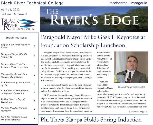 The River's Edge – Volume 10, Issue 6